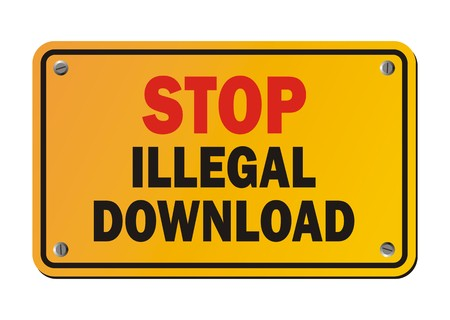 stop piracy: stop illegal download - warning sign