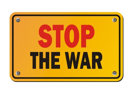 anti nuclear: stop the war - protest signs
