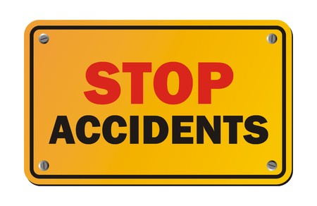 traffic accident: stop accidents - warning signs Illustration