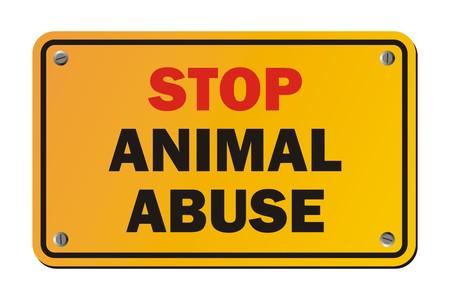 animal abuse: stop animal abuse - warning signs Illustration