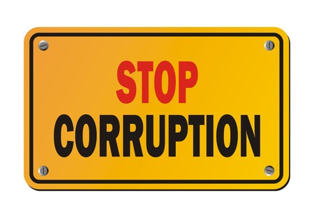 protest sign: stop corruption - protest sign