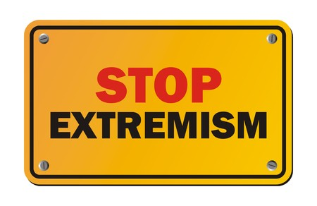 anarchism: stop extremism - warning sign