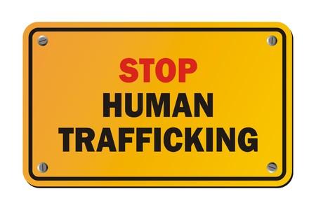 stop human trafficking - warning signs Illustration