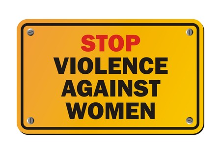 animal abuse: stop violence against women - protest sign Illustration