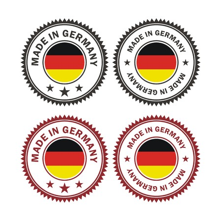 made in germany: made in germany - badges Illustration