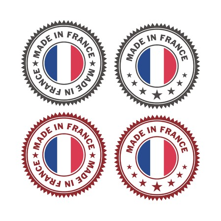 french produce: made in france - badges