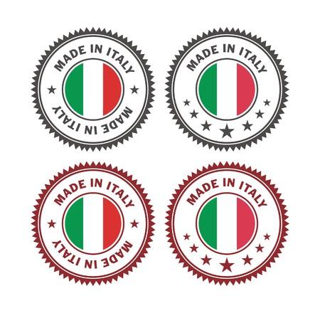 이탈리아에서 만든 - 배지 일러스트