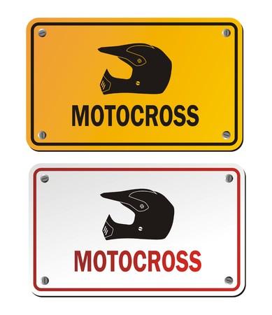 x games: motocross signs Illustration