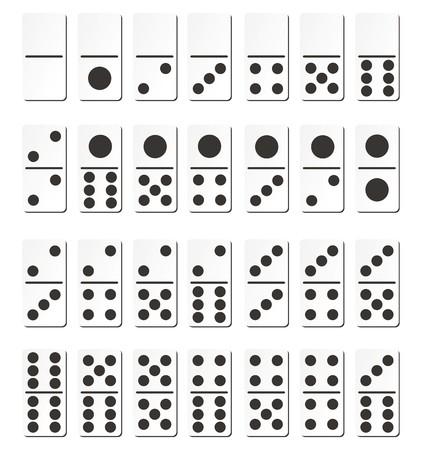 domino cards - black Illustration