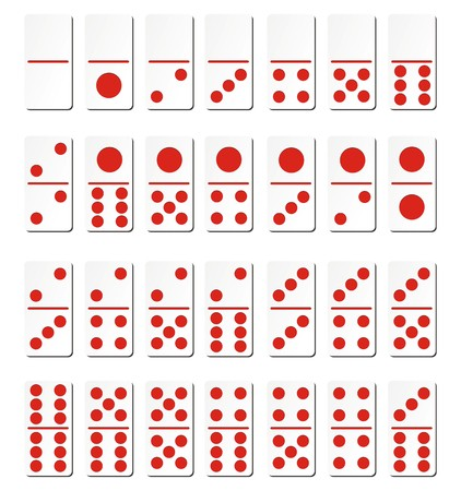 dominoes: domino cards - red Illustration