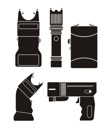 electroshock: stun gun - silhouette