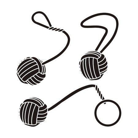 plaited: monkey fists - pictogram