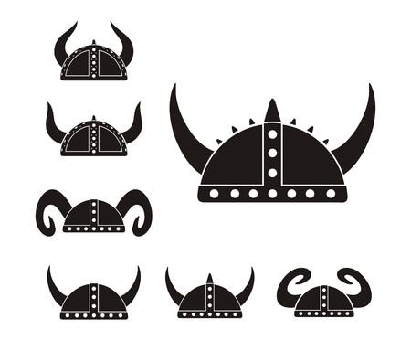 barbarian: barbarian helmet - pictogram Illustration