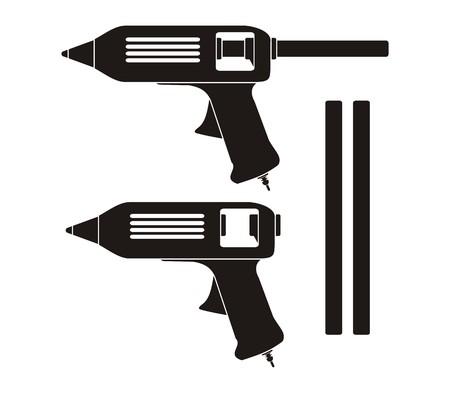 pegamento: pistola de pegamento caliente - pictograma Vectores