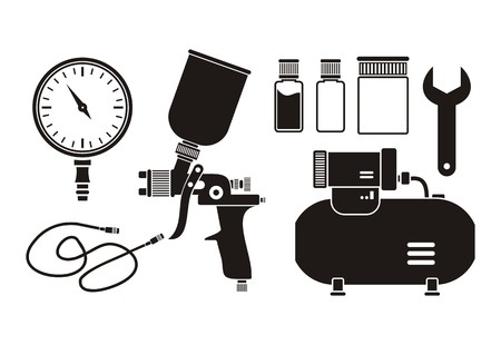 spray can: spray painting equipment - pictogram