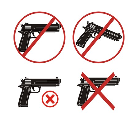 no gun - icon sets Vector