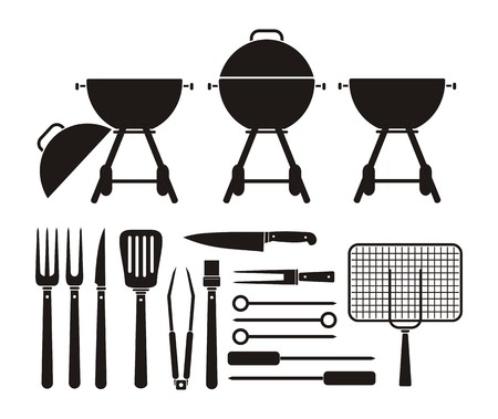 the equipment: barbecue equipment - pictogram Illustration