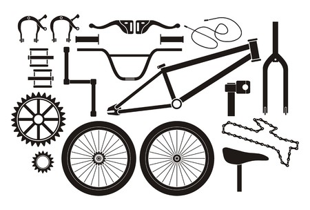 BMX parts - pictogram  イラスト・ベクター素材