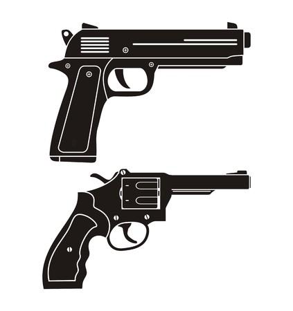 handgun: handgun, revolver silhouette