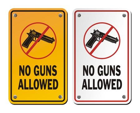 no guns allowed - warning signs Vector