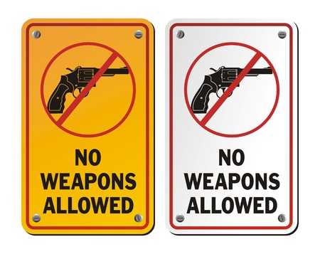 allowed: no weapons allowed - revolver icons