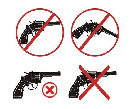 revolver - no gun icon sets Vector