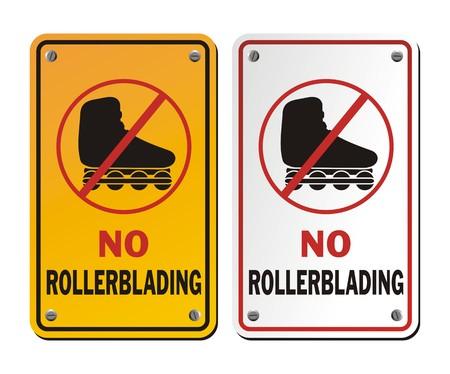 rollerblades: no rollerblading signs