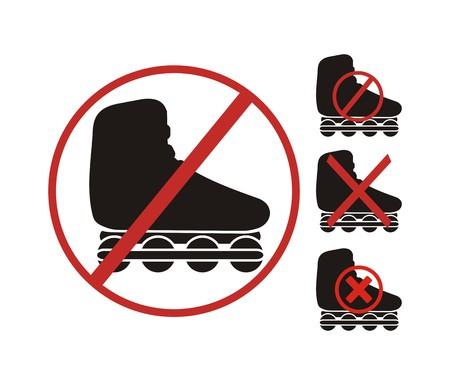 rollerblading: ningún símbolo patinar