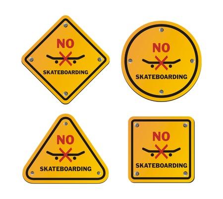illegal zone: no skateboarding roadsigns