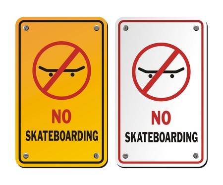 no skateboarding signs Vector