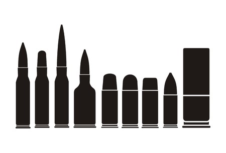 ballistic: bullet types - silhouette Illustration