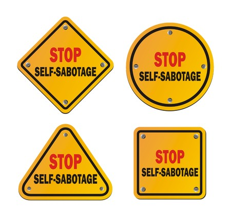 roadsigns: stop self-sabotage - roadsigns Illustration