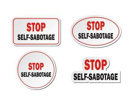 sabotage: stop self-sabotage - sticker sets
