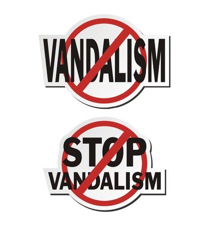 vandalism: stop vandalism - sticker sets