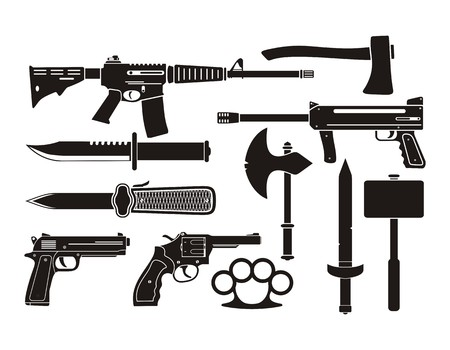 weapons: weapons - silhouette