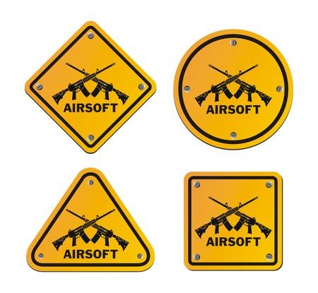 roadsigns: airsoft roadsigns Illustration