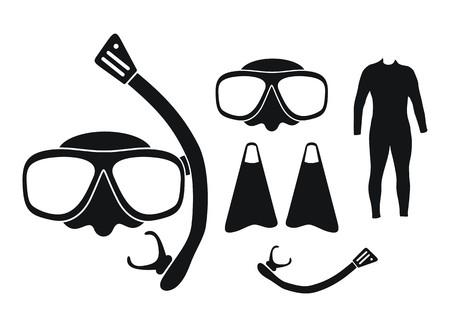 equipment: snorkeling equipment - silhouette