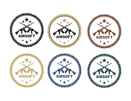 airsoft: airsoft badges Illustration