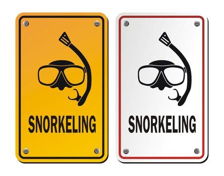 roadsigns: snorkeling signs