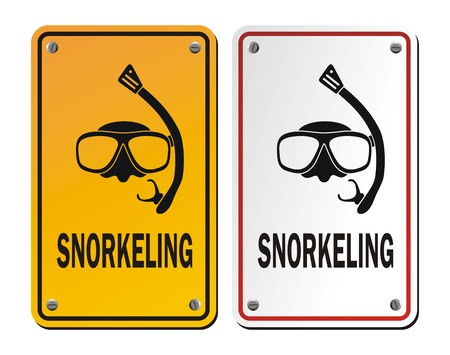 snorkeling signs
