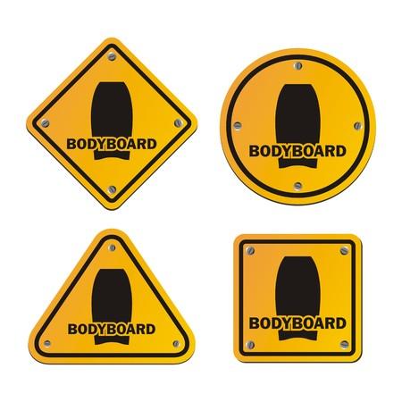 bodyboard: bodyboard signs Illustration