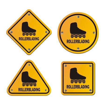 rollerblades: rollerblading signs Illustration