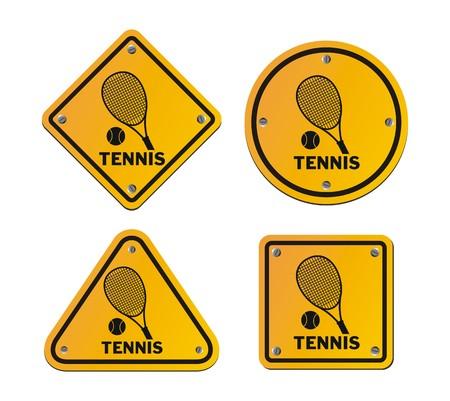 roadsigns: tennis signs
