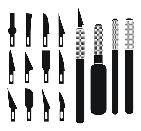 metal cutting: hobby knife sets - silhouette