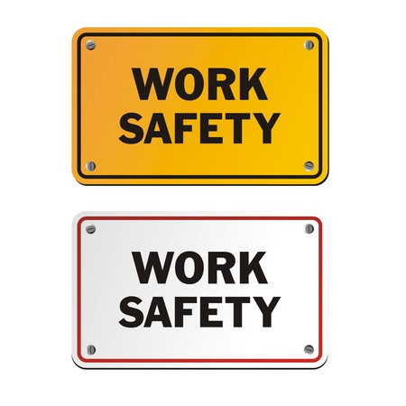 safety signs: work safety signs Illustration