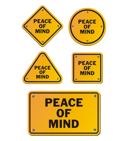 peace of mind: peace of mind signs