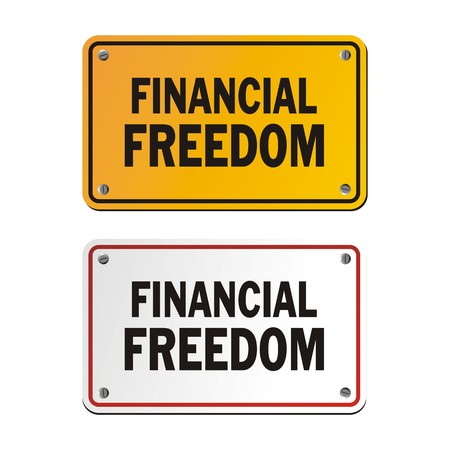 financial freedom: financial freedom signs Illustration