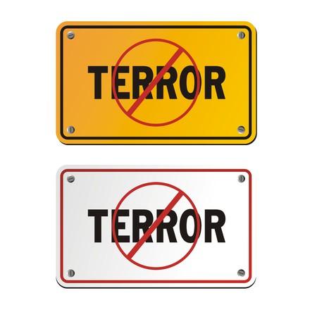 anti terror signs Vektoros illusztráció