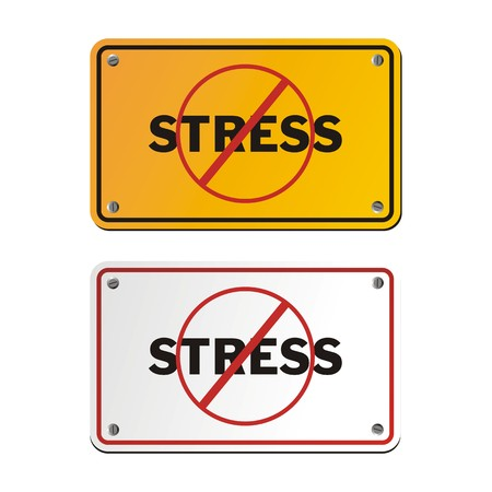 anti stress: anti stress yellow signs Illustration