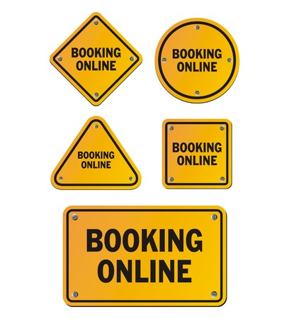 online: booking online signs